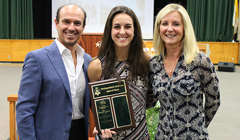 Distinguished Alumna Award Given to Gabriella Brignardello '12