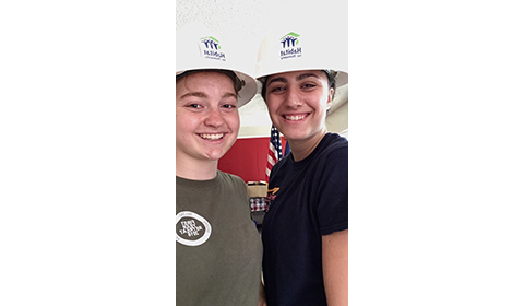 Alumna gives back as Summer Construction Intern for Habitat for Humanity